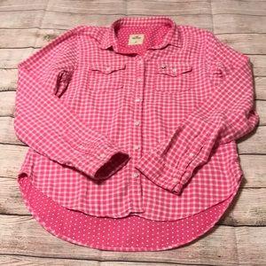 Hollister Flannel Medium Pink